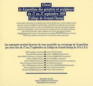 APSC Invitation 1998